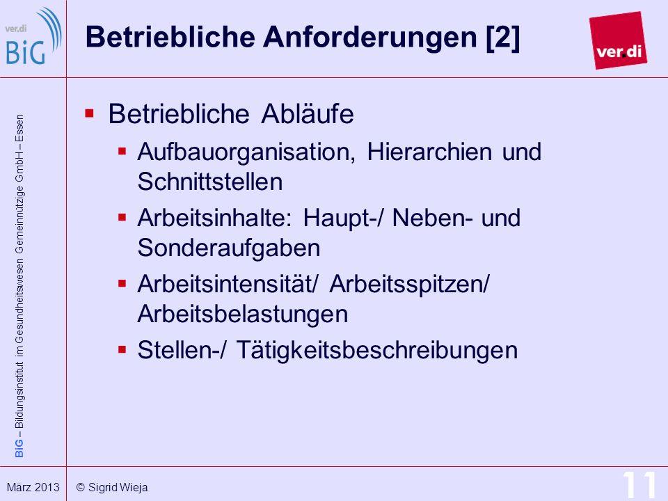 Betriebliche Anforderungen [2]